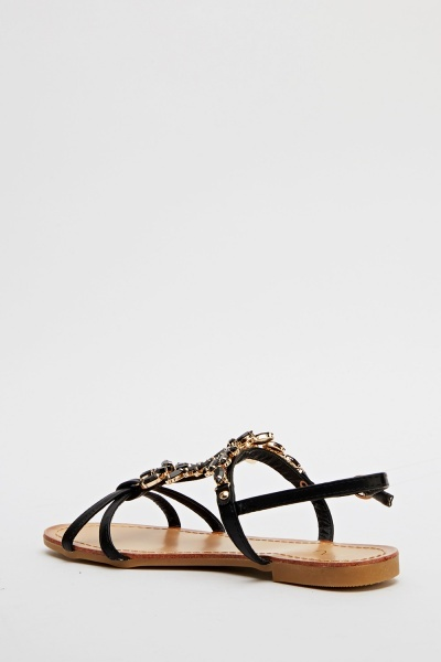 Diamante Embellished Sandals