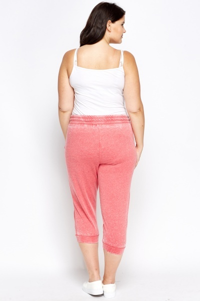 Rose Miami Logo Cropped Joggers