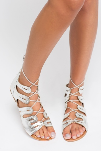 Open Toe Gladiator Sandals