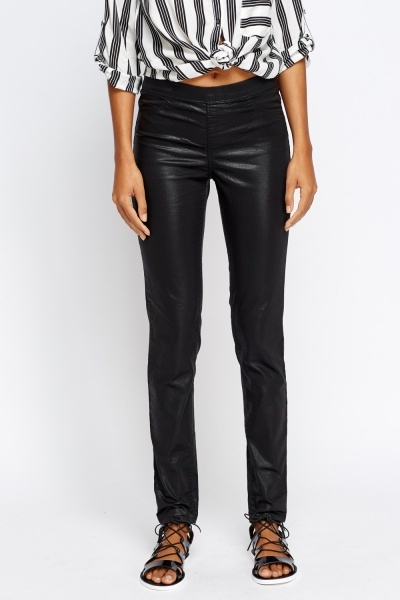 Black Wax On Jeggings