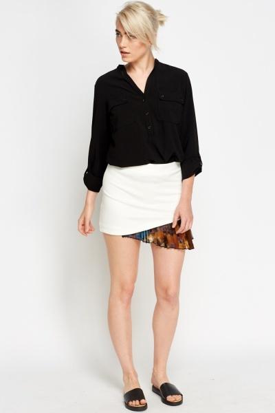 Asymmetric Contrast Skirt