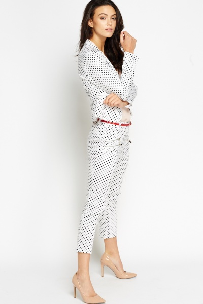 Polka Dot Belted Trousers