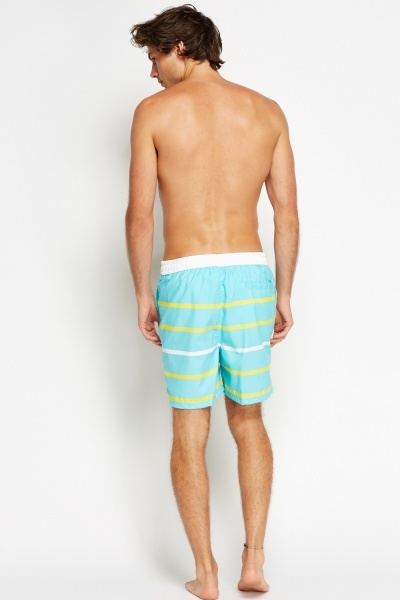Striped Swim Wear Shorts