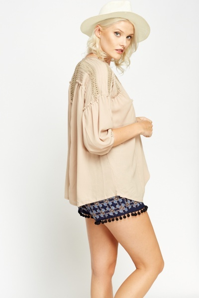 Peasant Crochet Insert Top