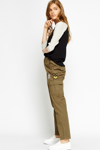Badged Cotton Trousers
