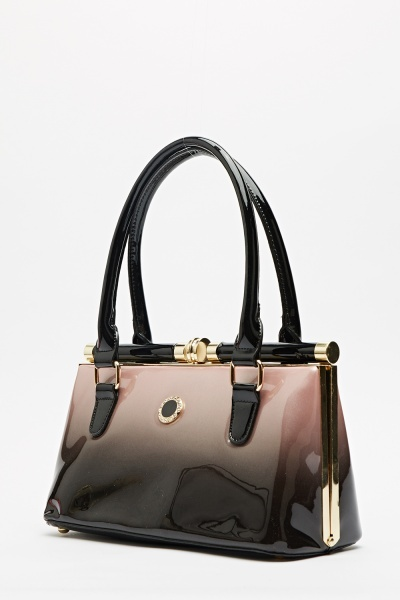 PVC Diamante Detailed Bag