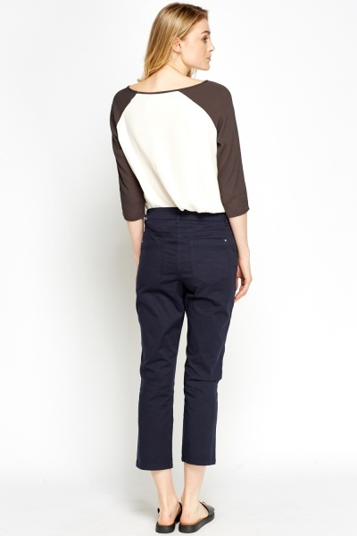 Regular Fit Cropped Trousers