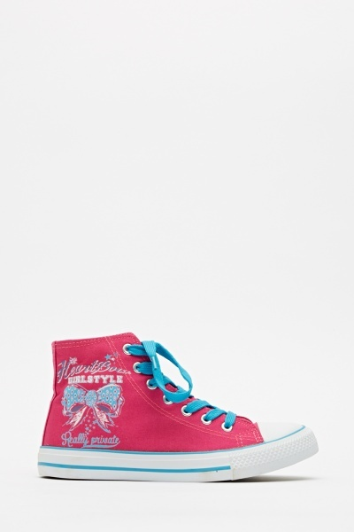 Fuchsia High Top Trainers