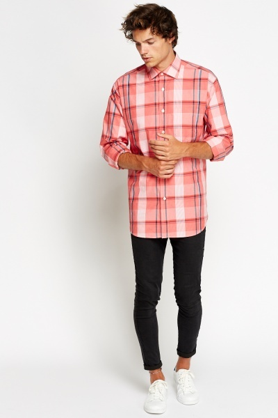 Red Multi Check Shirt