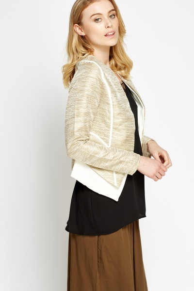 Speckled Metallic Blazer