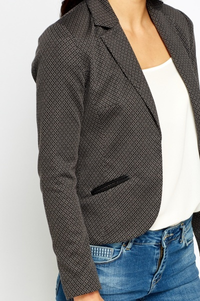 Charcoal Casual Blazer