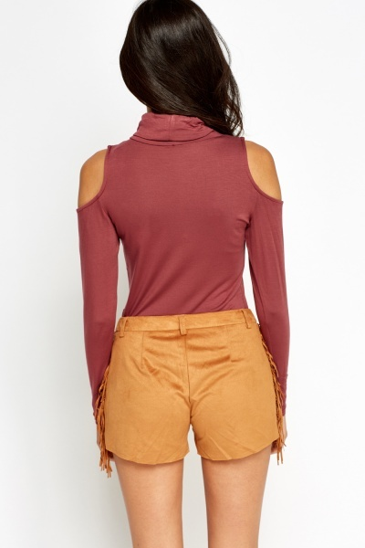 Cold Sleeve Mauve Top