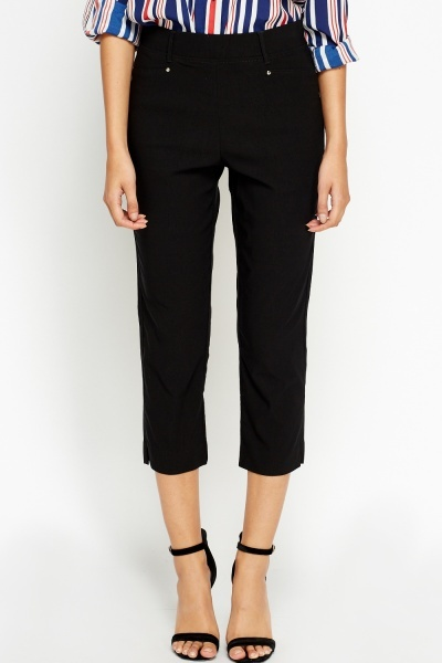 Fitted Cropped Trousers
