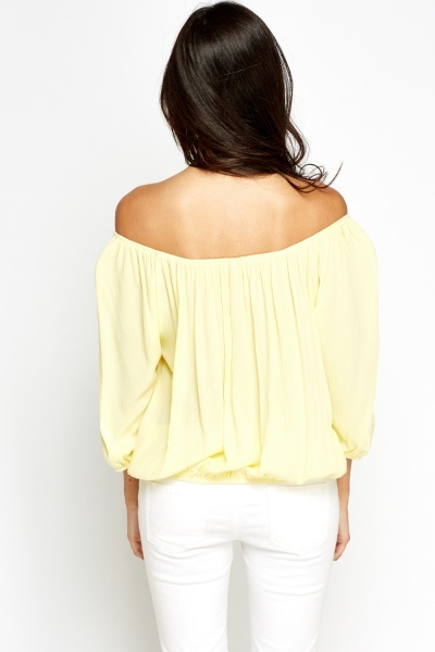 Yellow Off Shoulder Top