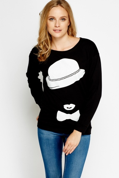 Girl Printed Long Sleeve Sweatshirt