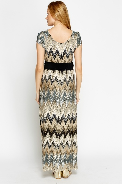 Multi Zig Zag Maxi Dress