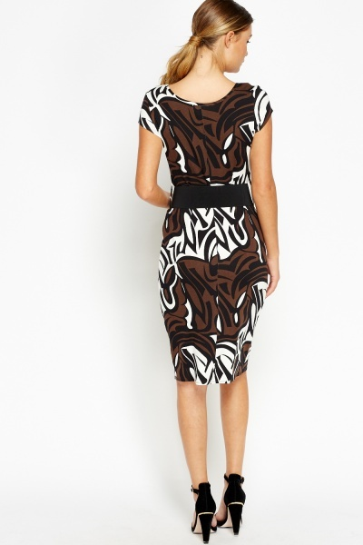 Belted Bodycon Dress