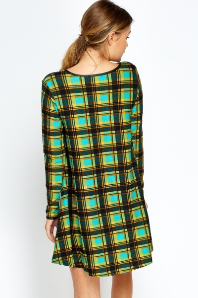 Checked Multi Tent Dress