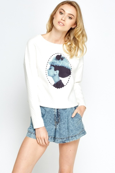 Printed Woman Quilted Jumper