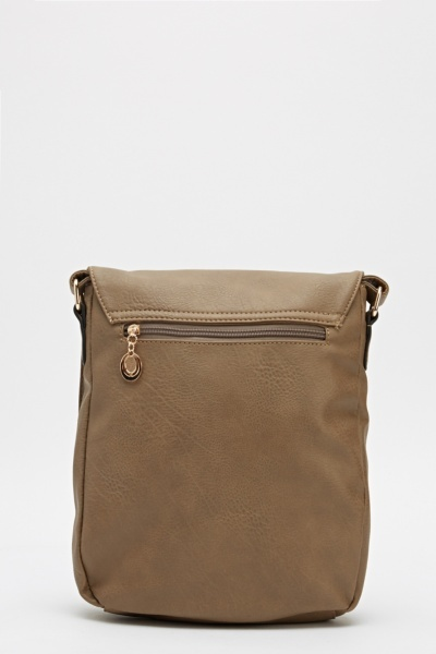 Zip Front Cross Body Bag