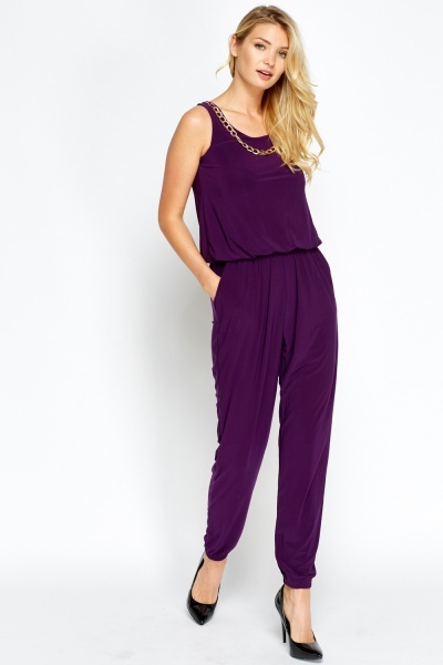 Chain Necklace Jumpsuit
