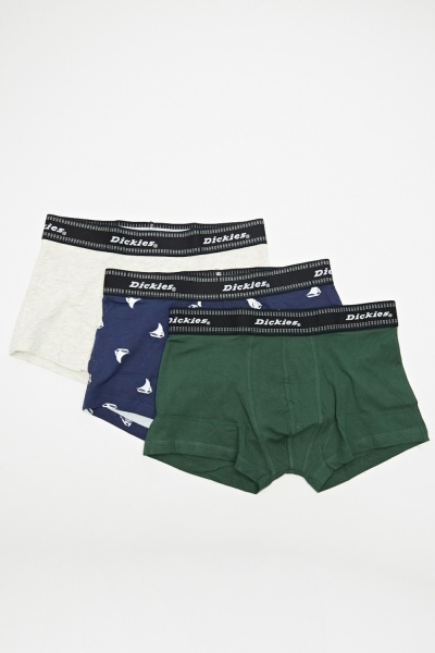 Pack Of 3 Cotton Mens Boxers