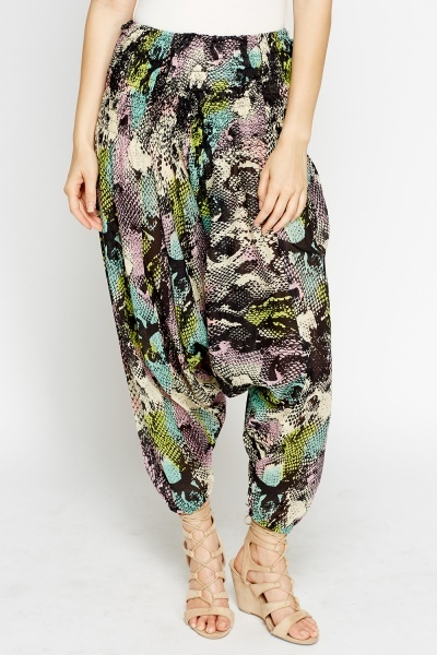 Mock Croc Harem Pants
