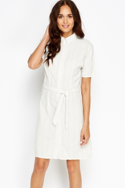 Cut Out Back Stripe T-Shirt Dress