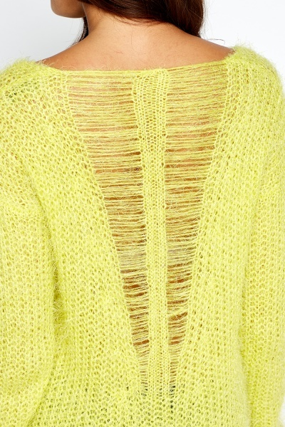 Distressed Back Knit Jumper