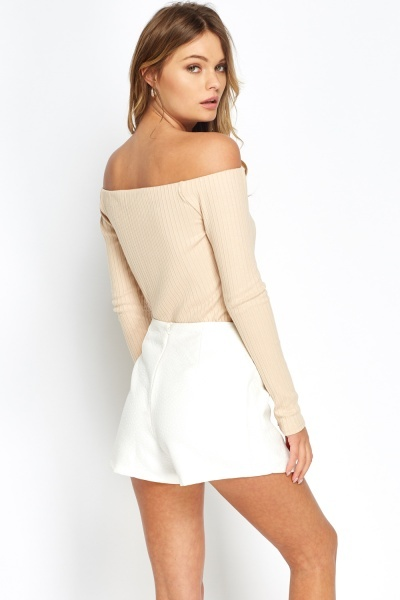 Off Shoulder Nude Top