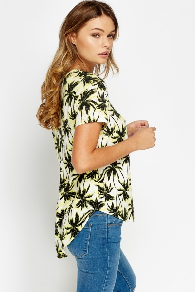 Palm Tree Printed T-Shirt