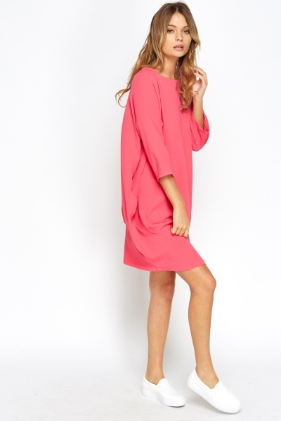 Pocket Side Box Dress