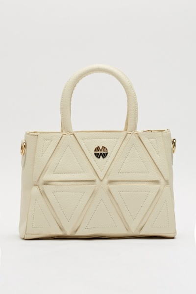 Front Triangle Patches Handbag