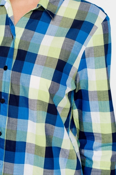 Multi Check 3/4 Sleeves Shirt