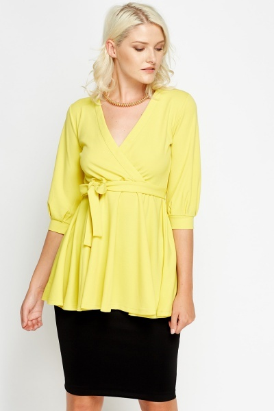 Plunge Pleated Top