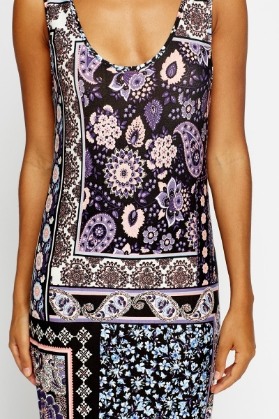 Multi Paisley Maxi Dress