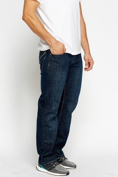 Multi Stitched Back Jeans