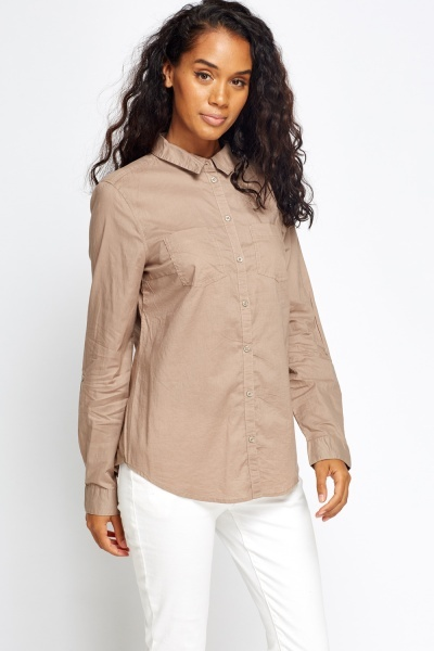 Textured Roll Up Sleeve Shirt