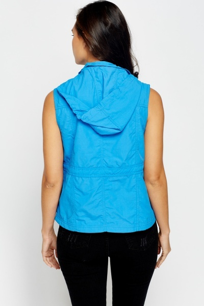 Multi Pocket Hooded Bodywarmer