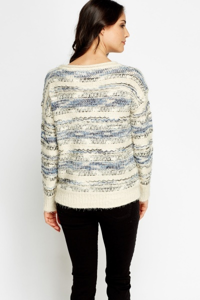 Eyelash Knit Dip Hem Jumper