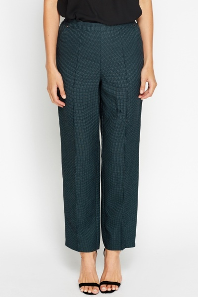 Textured Teal Smart Trousers