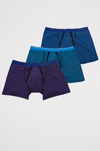3 Pack Mens A-Front Boxer Shorts