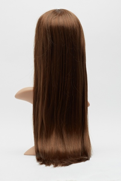 Chocolate Brown Long Fringed Wig