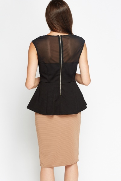 Detailed Front Peplum Top