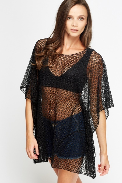 Loose Mesh Summer Cover Up