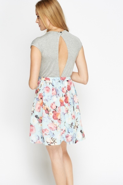 Open Back Contrast Dress