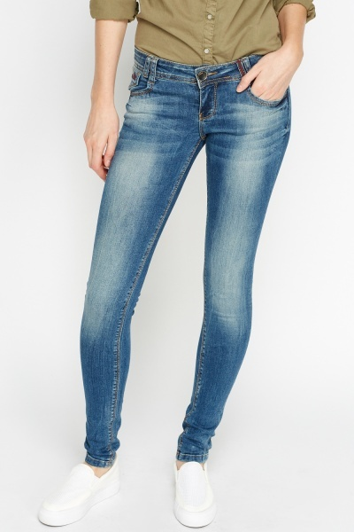 Low Rise Denim Blue Jeans