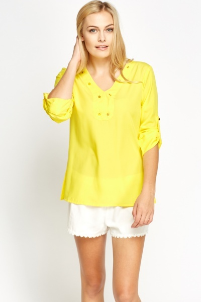 Image of Button Detailed Blouse