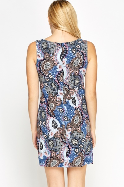 Paisley Ornate Shift Dress
