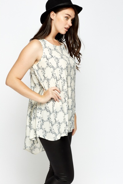Printed Flare Top